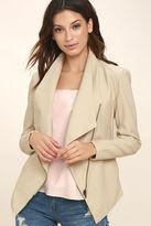 BB Dakota Laverne Light Beige Vegan Leather Jacket