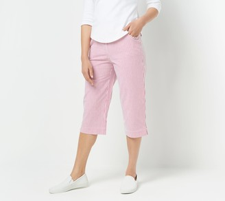 Factory Quacker Pull-On Stretch Seersucker Capri Pants