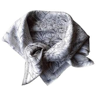 Jacques Fath White Silk Silk handkerchief