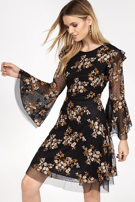 Coast Embroidered Bell Sleeve Dress