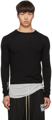 Rick Owens Black Lightening Level Round Neck Sweater