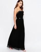 Little Mistress Embellished Bandeau Maxi Dress