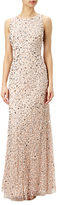Adrianna Papell Sleeveless Beaded Gown, Blush