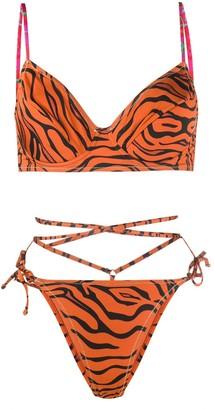 Reina Olga Tiger Print Bikini Set