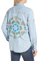 Rails Brett Embroidered Chambray Shirt
