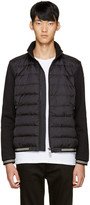 Moncler Black Down Maglia Sweater