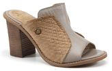 Diba Beige & Tan Cre Ative Leather Mule