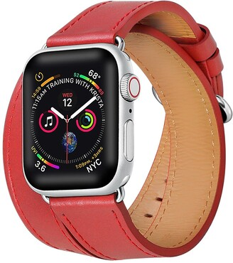 Posh Tech Double Wrap Leather Replacement Band for Apple Watch - 38mm/40mm