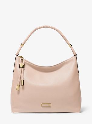 MICHAEL Michael Kors MK Lexington Large Pebbled Leather Shoulder Bag - Soft Pink - Michael Kors