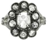 Cathy Waterman Unique Grey Moghul Diamond Lace Edge Ring