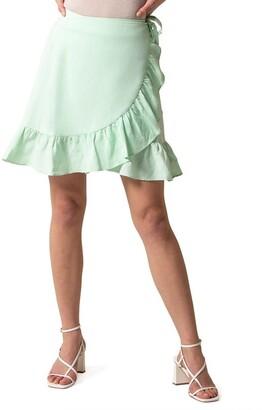 Forever New Nala Wrap Linen Mini Skirt