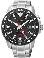 Seiko Sun015p1 Sportura Chronograph Stainless Steel Bracelet Strap Watch, Silver/black