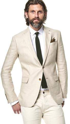 Todd Snyder White Label Sutton Unconstructed Linen Sport Coat in Beige