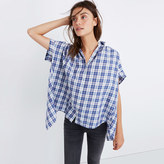 Madewell Central Open-Back Shirt in Linus Plaid