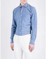 Drakes Regular-fit Chambray Denim Shirt