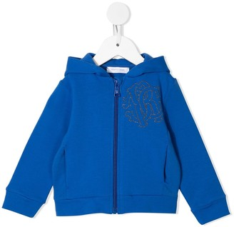 Roberto Cavalli Junior Embroidered Logo Sweat Jacket