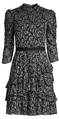 Rebecca Taylor Women's Ceclia Silk-Blend Lace Dress
