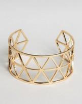 NY:LON Geo Cut Out Cuff Bracelet