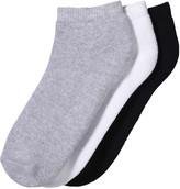 Joe Fresh Women's 3 Pack Sport Socks, Grey (Size 9-11)
