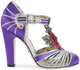 Gucci T-strap pump with flower