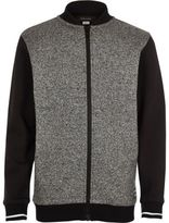 River Island Boys grey grindle bomber jacket
