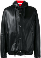 Givenchy reversible hooded jacket - men - Leather/Cotton - 50