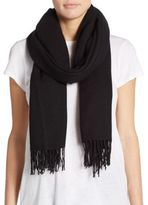 Saks Fifth Avenue Blanket Fringe Wool-Blend Scarf