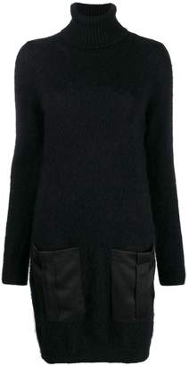 Semi-Couture Semicouture turtle-neck sweater dress