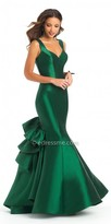 Camille La Vie Ruffle Back Mikado Trumpet Evening Dress