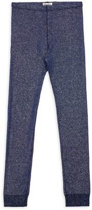 Hatley Little Girl's & Girl's Glitter Stretch-Cotton Leggings