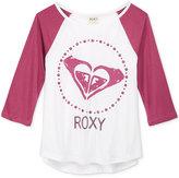 Roxy 3/4 Sleeve Graphic T-Shirt, Little Girls (2-6X)