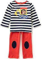 Starting Out Baby Boys 12-24 Months Bulldozer-Applique Striped Top and Pull-On Pants Set