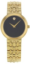 Movado Museum 605103 Gold Tone Stainless Steel 34mm Womens Watch
