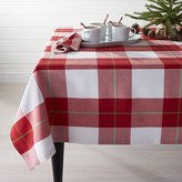Crate & Barrel Holiday Plaid Tablecloth