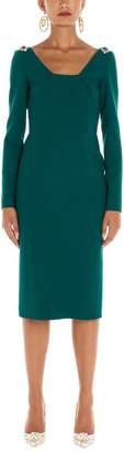 Dolce & Gabbana Jewel Embellished Midi Dress