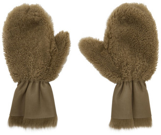Yves Salomon Tan Merinillo and Toscana Shearling Mittens