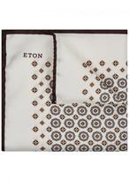Eton Ivory Printed Silk Pocket Square