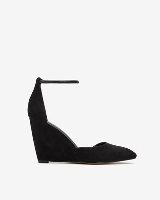 Express Elastic Ankle Strap Wedge Heels