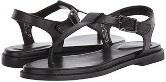 Hush Puppies Lexi Toe Post (Black Leather) Women's Shoes