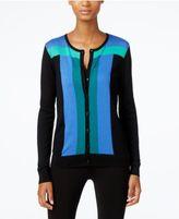 August Silk Colorblocked Cardigan
