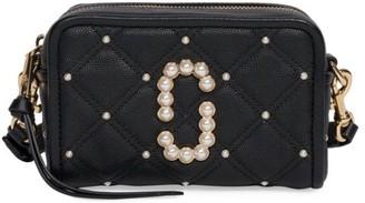 Marc Jacobs The Softshot Embellished Quilted Leather Camera Bag
