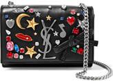 Saint Laurent Monogramme Kate Small Embellished Textured-leather Shoulder Bag - Black