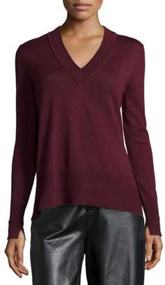 Rag & Bone Burgundy Long-Sleeve Sweater