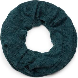 styleBREAKER loop tube scarf with hole knitting pattern vintage scarf shawl unisex 01017045