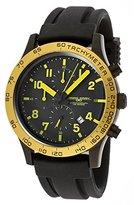 Jorg Gray Men's Quartz Chronograph Watch JG1900-11 With Rubber Strap and Black Dial