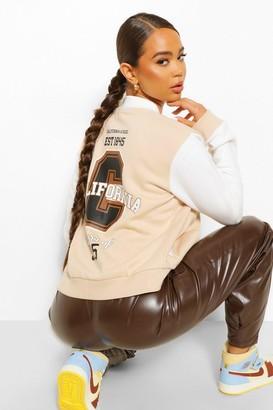 boohoo California Varsity Jacket