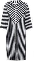 Araks Margot stripe hooded cover-up - women - Cotton - L