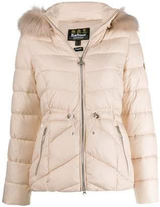 Barbour fur trimmed hood jacket