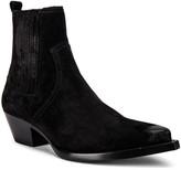 Saint Laurent Lukas Suede Boots in Black   FWRD