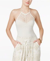 American Rag Crochet-Inset Bodysuit, Only at Macy's